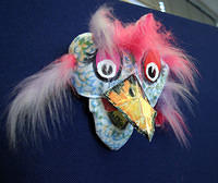 Hand puppet made for Oldham Workshops